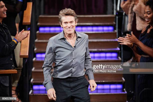 Willem Dafoe greets the audience during 'The Late Late Show with James Corden' Wednesday August 16 2017 On The CBS Television Network