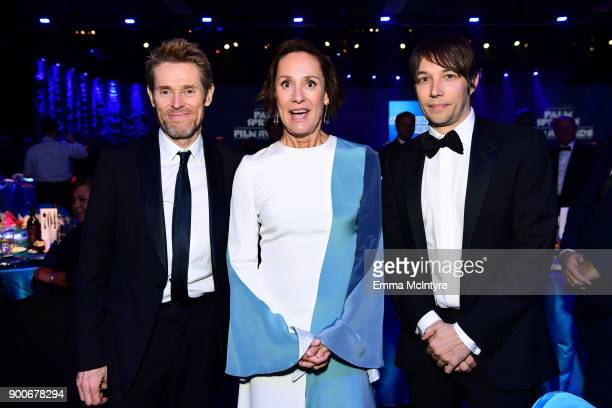 Willem Dafoe Laurie Metcal and Sean Baker attend the 29th Annual Palm Springs International Film Festival Awards Gala at Palm Springs Convention...