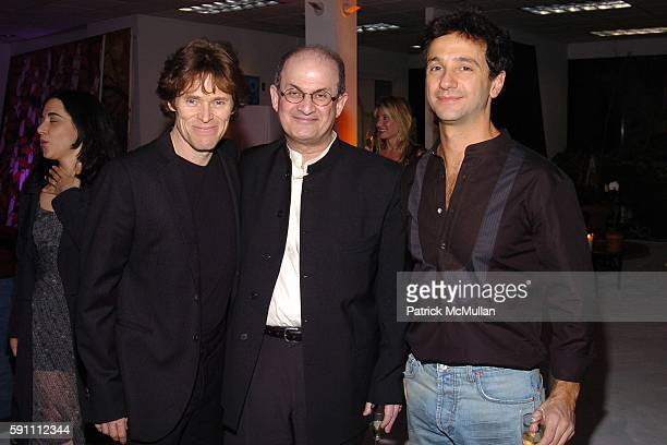Willem Dafoe Salman Rushdie and Carlos Miele attend Carlos Miele Padma Lakshmi host a Secret Afterparty honoring The Tribeca Film Festival the First...