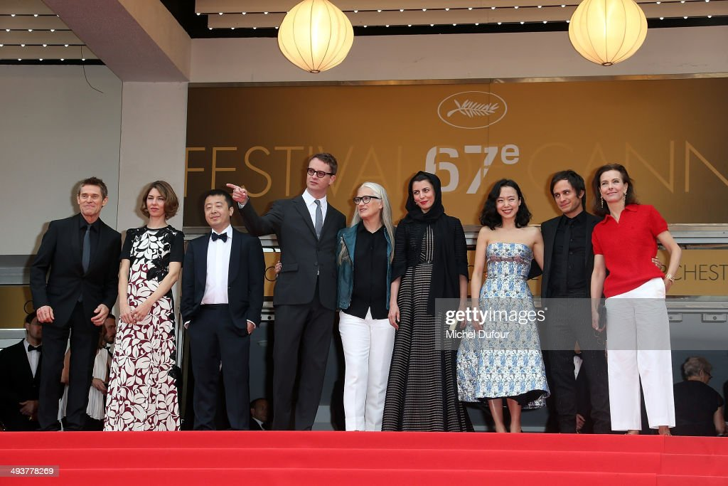 Willem Dafoe, Sofia Coppola, Zhangke Jia, Nicolas Winding Refn, Jane Campion, Leila Hatami, Do-yeon Jeon, Gael Garcia Bernal and Carole Bouquet attend the red carpet for the Palme D'Or winners at the 67th Annual Cannes Film Festival on May 25, 2014 in Cannes, France.