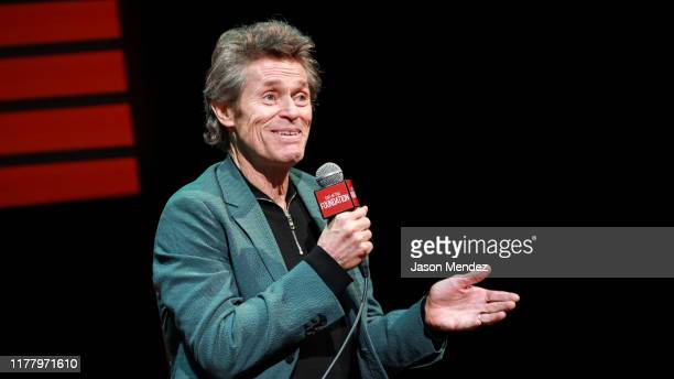 Willem Dafoe speaks during the SAGAFTRA Foundation Conversations Motherless Brooklyn at The Robin Williams Center on October 24 2019 in New York City