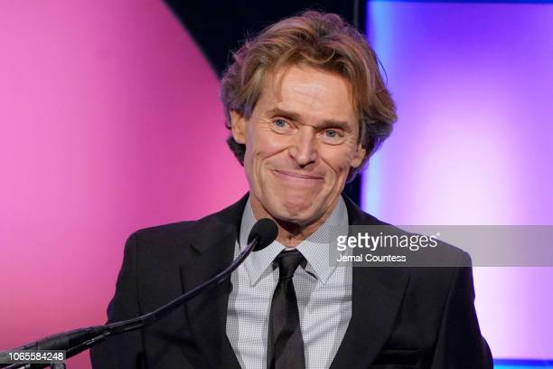 Willem Dafoe speaks onstage during IFP's 28th Annual Gotham Independent Film Awards at Cipriani Wall Street on November 26 2018 in New York City