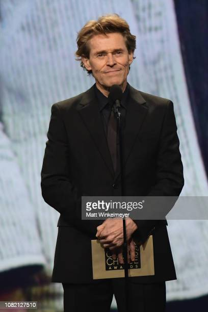 Willem Dafoe speaks onstage during the 24th annual Critics' Choice Awards at Barker Hangar on January 13 2019 in Santa Monica California