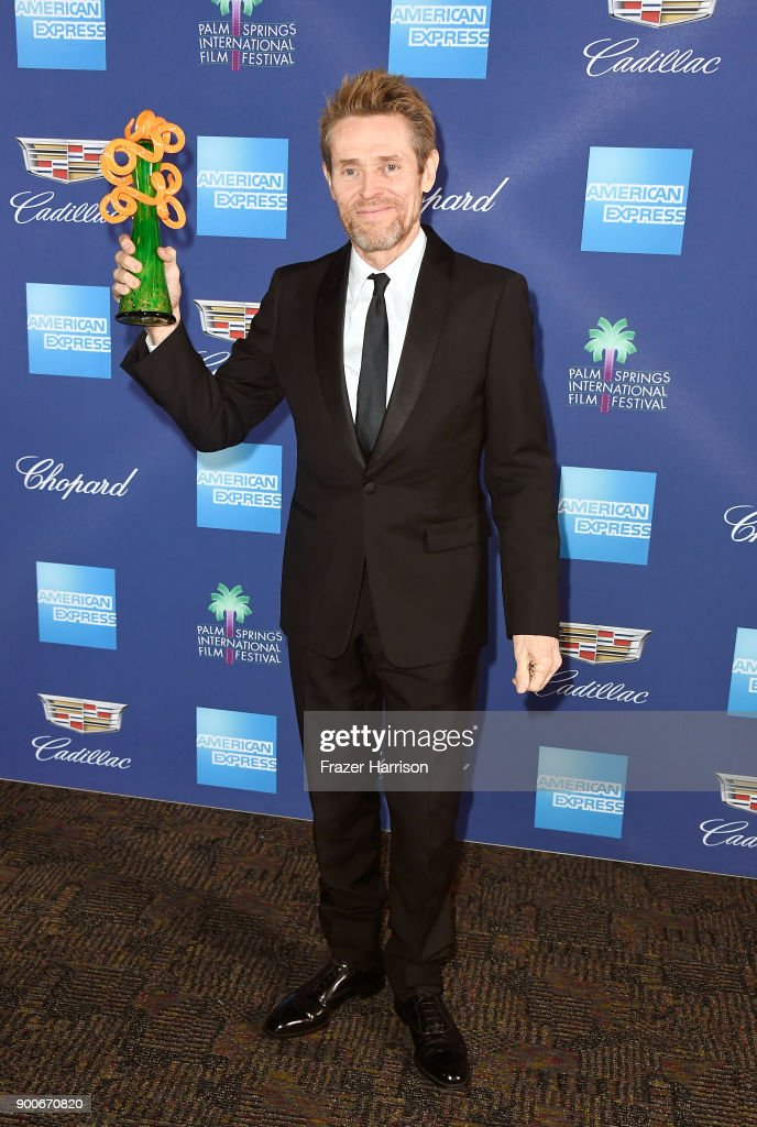 Willem Dafoe, winner of the Icon Award attends the 29th Annual Palm Springs International Film Festival Awards Gala at Palm Springs Convention Center on January 2, 2018 in Palm Springs, California.