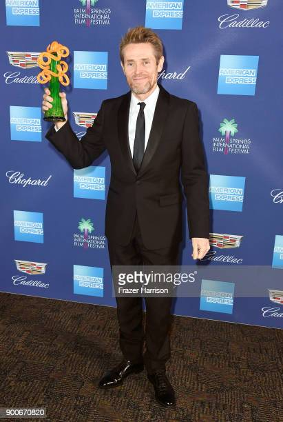 Willem Dafoe winner of the Icon Award attends the 29th Annual Palm Springs International Film Festival Awards Gala at Palm Springs Convention Center...