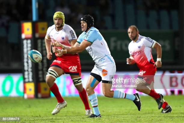 Willem Du Plessis of Bayonne during the French Pro D2 match between Aviron Bayonnais and Grenoble on September 21 2017 in Bayonne France