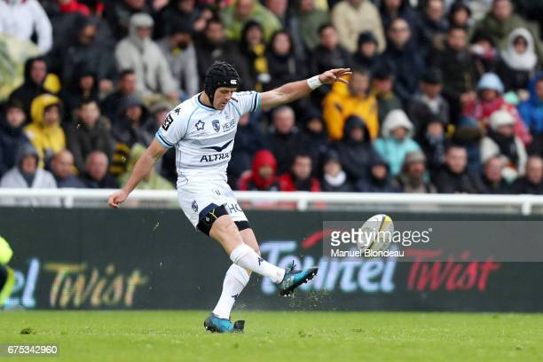 Willem Du Plessis of Montpellier during the French Top 14 match between La Rochelle and Montpellier on April 30 2017 in La Rochelle France