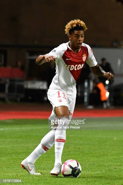 Willem Geubbels of Monaco during the French Ligue 1 match between AS Monaco and Lille at Stade Louis II on August 18 2018 in Monaco Monaco