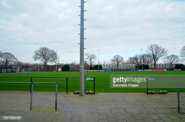 Willem II closed to Corona virus during the Willem II closed due to Coronavirus at the Koning Willem II Stadion on March 16 2020 in Tilburg...