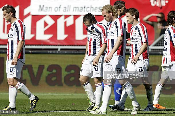 Willem II's Ricardo Ippel reacts after loosing the Dutch Eredivisie football match against FC Twente during the Dutch Eredivisie football match in De...