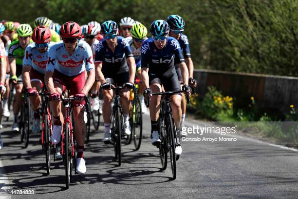Willem Jakobus Smit of South Africa and Team KatushaAlpecin / David de la Cruz of Spain and Team Sky / Benjamin King of Australia and Team Dimension...