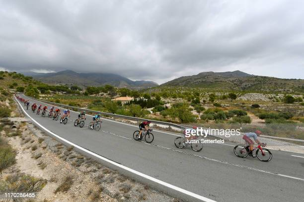 Willem Jakobus Smit of South Africa and Team KatushaAlpecin / Matteo Fabbro of Italy and Team KatushaAlpecin / Salvatore Puccio of Italy and Team...