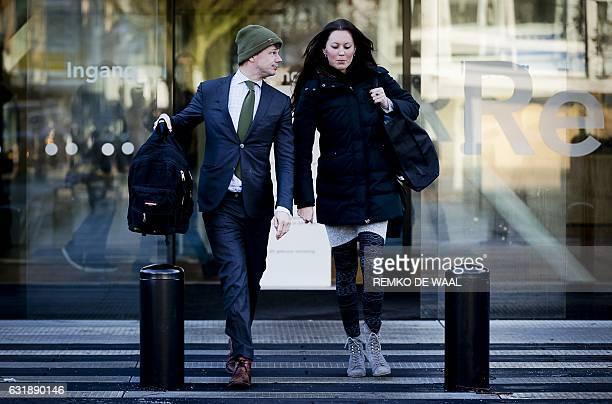 Willem Jebbink lawyer of Volkert van der Graaf the murderer of Dutch politician Pim Fortuyn leaves the court of Amsterdam on January 17 after a...