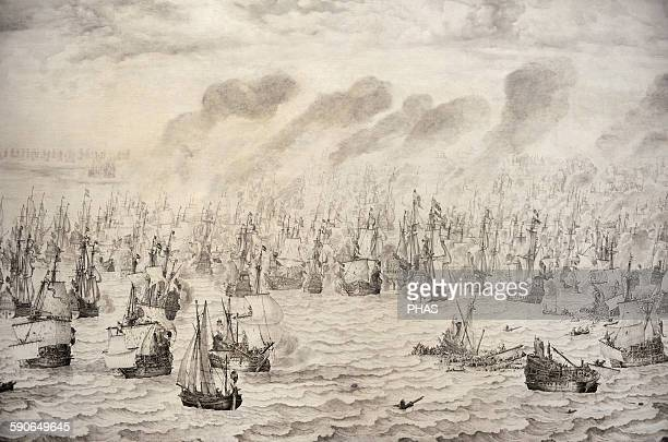 Willem van de Velde I16111693 Dutch painter The Battle of Terheide 1657 Rijksmuseum Amsterdam Holland