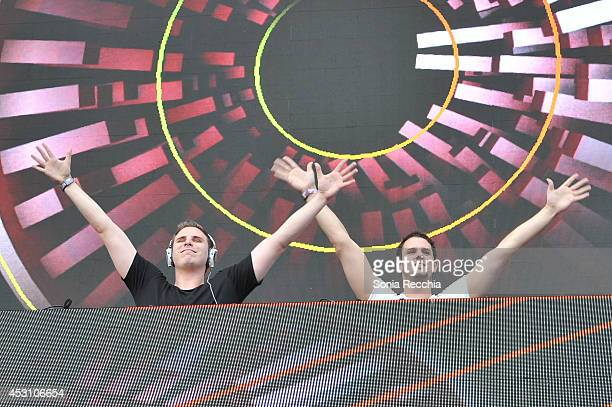 Willem Van Hanegem and Wardt Van Der Harst of WW perform at 2014 Veld Music Festival at Downsview Park on August 2 2014 in Toronto Canada