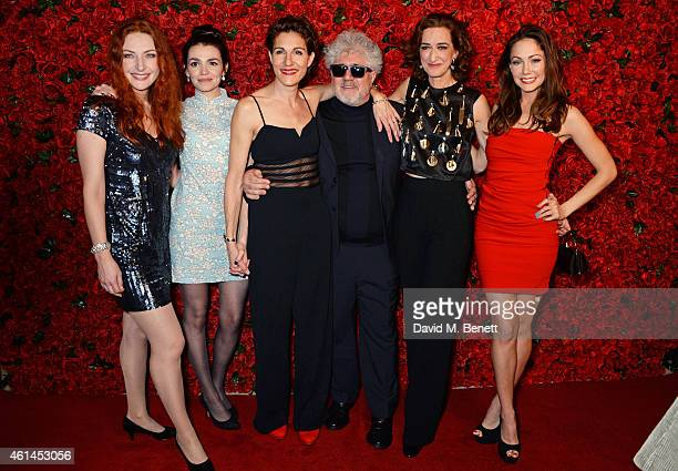 Willemijn Verkaik Seline Hizli Tamsin Greig Pedro Almodovar Haydn Gwynne and Anna Skellern attend an after party following the press night...