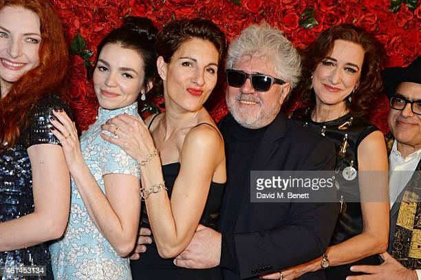 Willemijn Verkaik Seline Hizli Tamsin Greig Pedro Almodovar Haydn Gwynne and David Yazbek attend an after party following the press night performance...
