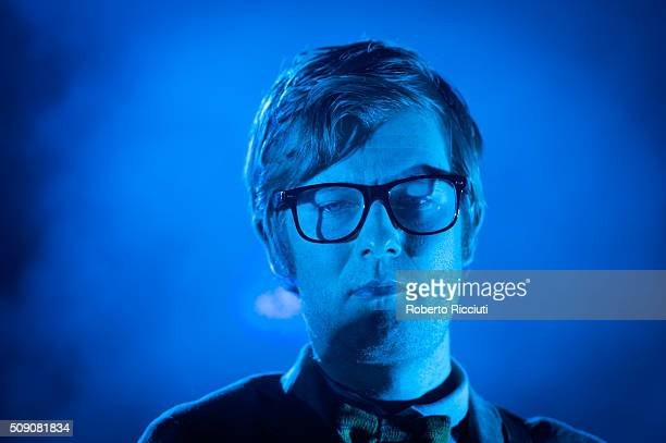 J Willgoose Esq of Public Service Broadcasting performs on stage at Queen's Hall on February 8 2016 in Edinburgh Scotland