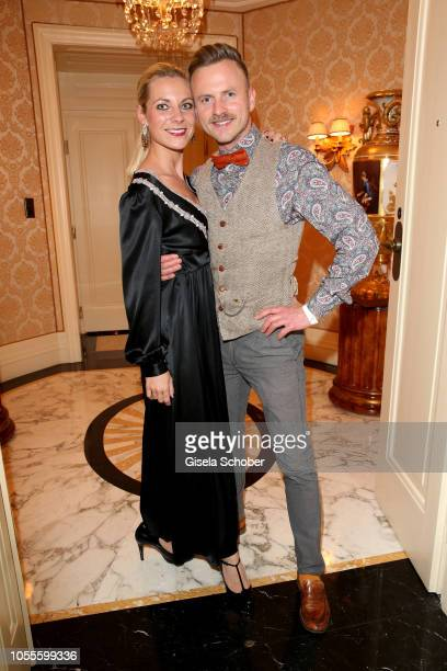 Willi Gabalier brother of Andreas Gabalier and his wife Christiana Gabalier during the presentation of the collection 'Dressing Gown' and perfume of...