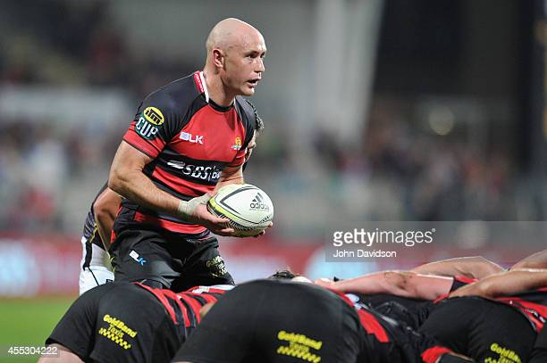 Willi Heinz of Canterbury during the round five ITM Cup match between Canterbury and Wellington at AMI Stadium on September 12 2014 in Christchurch...