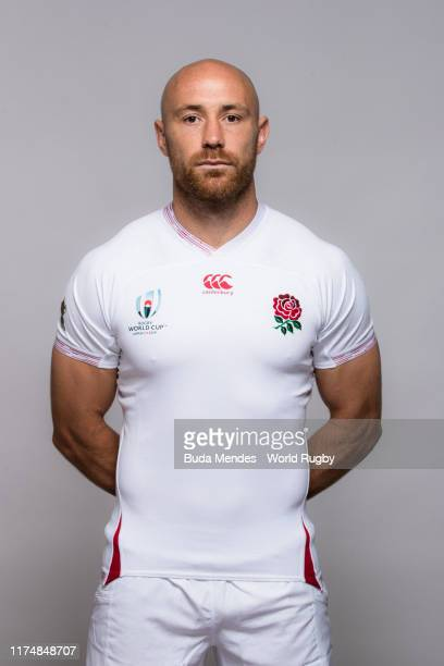 Willi Heinz of England poses for a portrait during the England Rugby World Cup 2019 squad photo call on September 15, 2019 in Miyazaki, Japan.