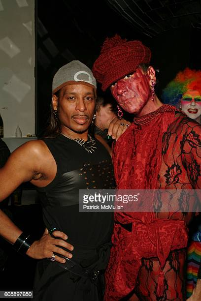 Willi Ninja and Gazelle attend AMANDA LEPORE DOLL After Party at Happy Valley on April 11 2006 in New York City