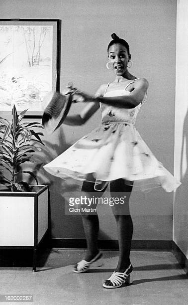 APR 26 1973 MAY 6 1973 Willi Smith's lighthearted little polyester print lawn dress has spaghetti straps its own sheer slip it's $40