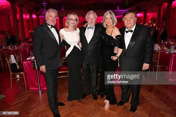 Willi Weber Annette Kubicki Wolfgang Kubicki Manuela Schmid Helmut Thoma during the Spring Ball Frankfurt 2015 at Palmengarten on March 28 2015 in...