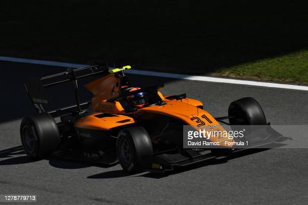 William Alatalo of Finland and Campos Racing drives during Day Two of Formula 3 Testing at Circuit de Barcelona-Catalunya on October 06, 2020 in...