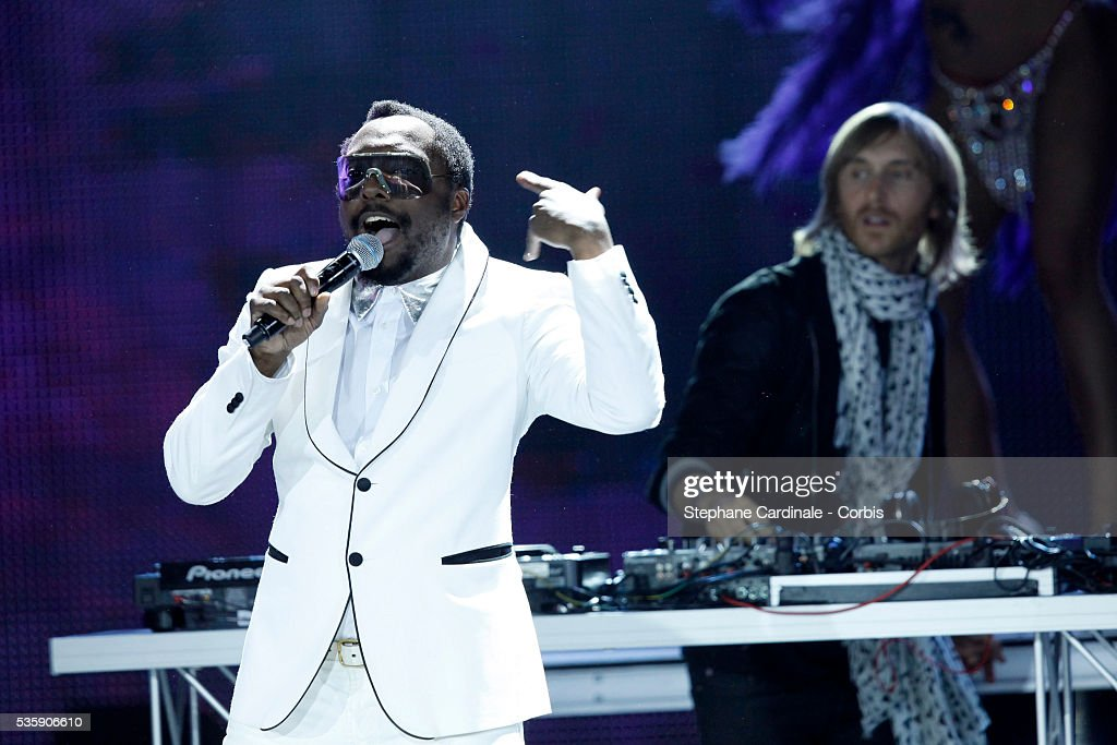 Will-i-am and David Guetta perform at the 'World Music Awards 2010 - show' at the Sporting Club in Monte Carlo, Monaco.