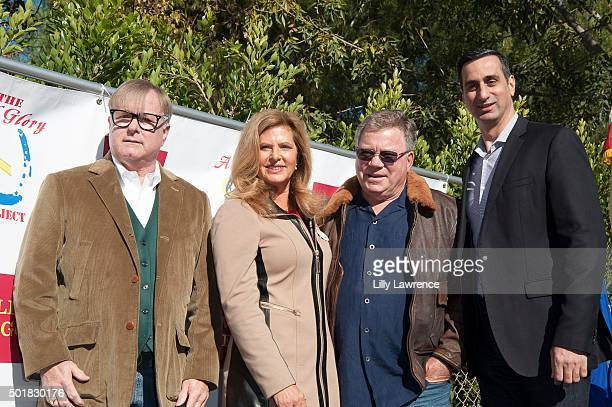 William and Elizabeth Shatner join Jonathan Weedman and David DiCristofario of Wells Fargo to present contribution to The All Glory Project at Shadow...
