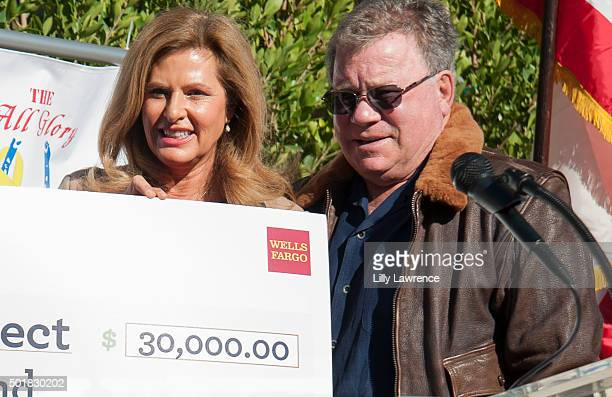 William and Elizabeth Shatner join Wells Fargo to present contribution to The All Glory Project at Shadow Hills Riding Club on December 17 2015 in...