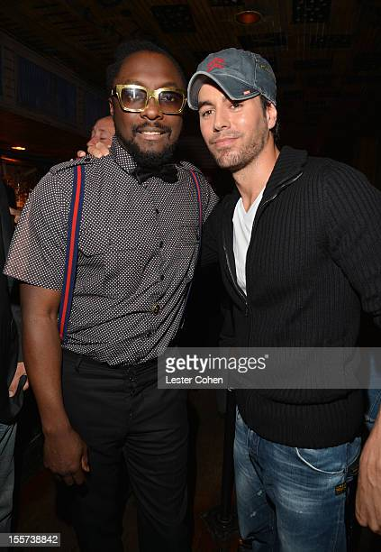 Will.I.Am and Enrique Iglesias attend City of Hope's Fifth Annual MEI Comedy Roast Honoring Clear Channel's John Ivey on November 7, 2012 at the...