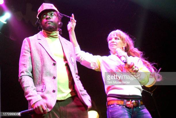 Will.I.Am and Fergie of Black Eyed Peas perform at HP Pavilion on October 18, 2005 in San Jose, California.