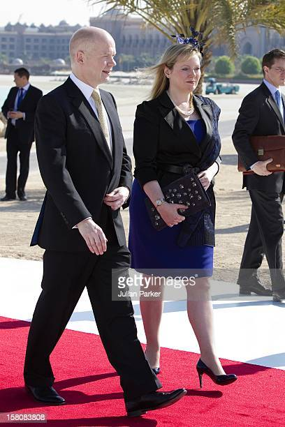 William And Ffion Hague Attend An Unveiling Of A Design For The Shiekh Zayed National Museum And Look At Other Projects In An Exhibition And After...
