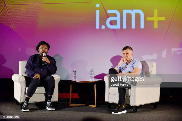 william and Gary Vaynerchuk on stage at WORLDZ Cultural Marketing Summit 2017 at Hollywood and Highland on July 31 2017 in Los Angeles California