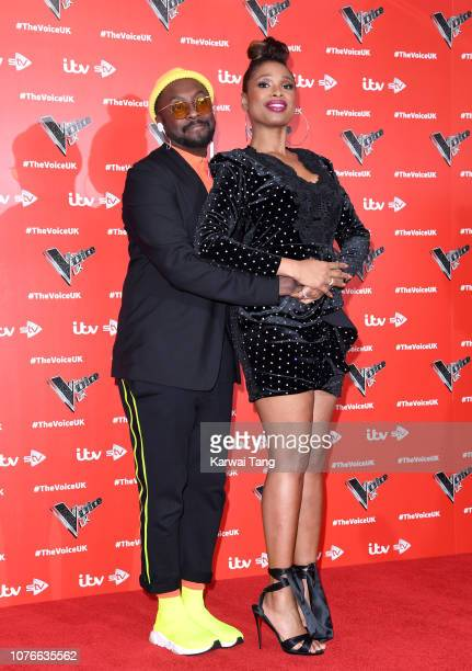William and Jennifer Hudson attend The Voice UK 2019 launch at W Hotel Leicester Sq on January 3 2019 in London England