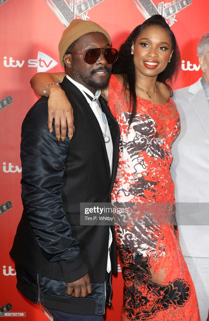 will.i.am and Jennifer Hudson during The Voice UK Launch photocall held at Ham Yard Hotel on January 3, 2018 in London, England.