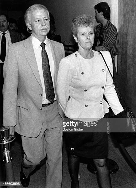William and Judith Smart, parents of victim Gregory Smart, enter the Rockingham County Superior Court in Exeter, N.H. For the closing arguments in...