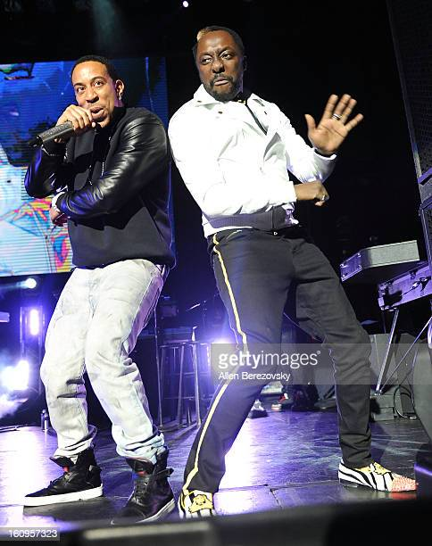 william and Ludacris perform at the william's annual TRANS4M concert benefitting IAmAngel foundation on February 7 2013 in Hollywood California