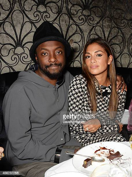 william and Nicole Scherzinger attend as Lauryn Hill performs at the Dover Street Arts Club on September 27 2014 in London England