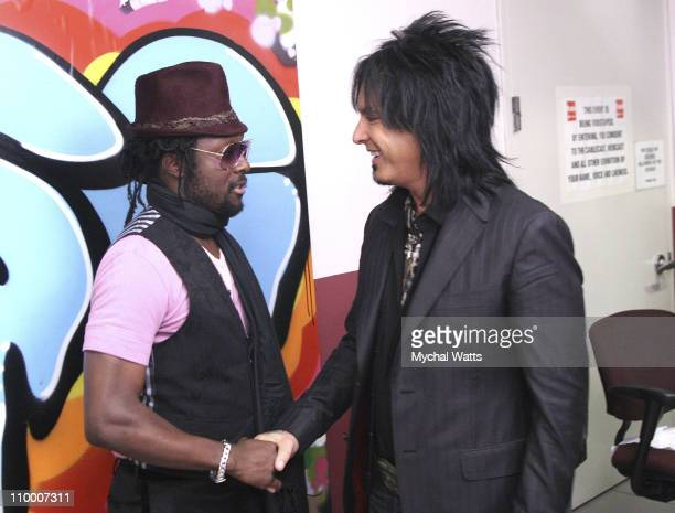 william and Nikki Sixx visit fuse's The Sauce at fuse Studios September 24 2007 in New York City