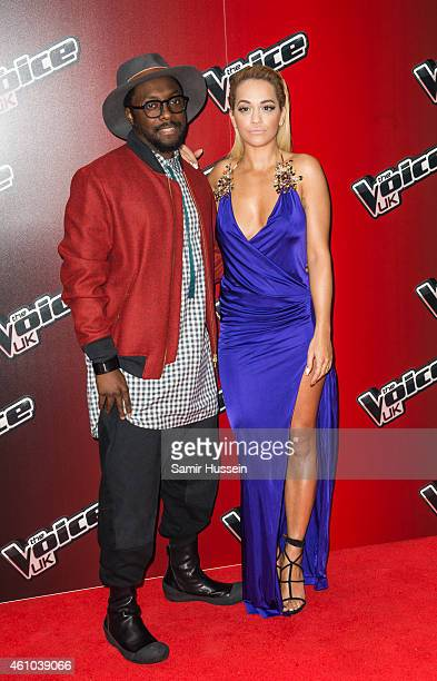 WillIAm and Rita Ora attend the launch of The Voice UK Series 4 at The Mondrian Hotel on January 5 2015 in London England