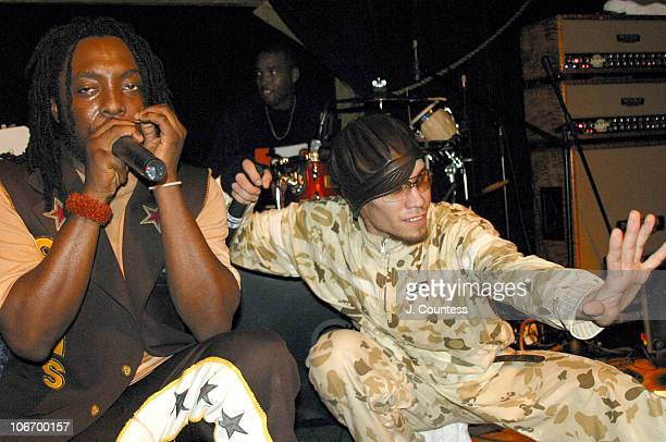 William and Taboo during Black Eyed Peas in Concert with Special Guest Justin Timberlake at SOB's in New York City on August 12 2003 at SOB's in New...