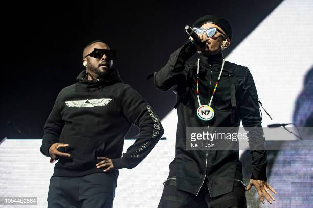 william and Taboo of the Black Eyed Peas perform on stage at the Eventim Hammersmith Apollo on October 27 2018 in London England