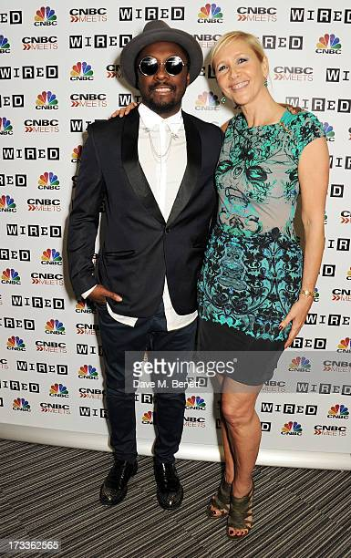 Will.i.am and Tania Bryer attend a party hosted by will.i.am and David Rowan to celebrate their co-curation of the August issue of WIRED and preview...