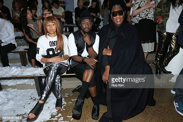 william Andre Leon Talley and a guest sit front row at Public School during MADE Fashion Week Spring 2015 at Milk Studios on September 7 2014 in New...