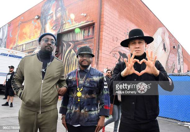 william apldeap and Taboo of The Black Eyed Peas attend the WE RISE Rally on May 19 2018 in Los Angeles California