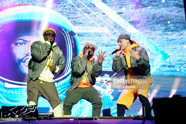 william apldeap and Taboo of The Black Eyed Peas perform during the second day of Son do Camino Festival on June 14 2019 in Santiago de Compostela...