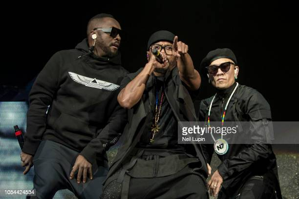 william apldeap and Taboo of the Black Eyed Peas perform on stage at the Hammersmith Eventim Apollo on October 27 2018 in London England